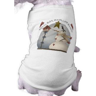 Cute Christmas Snowman Dog Shirt