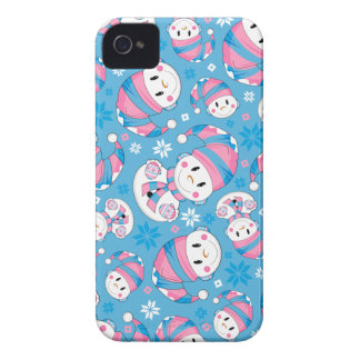 Cute Christmas Snowman iphone Case iPhone 4 Covers