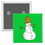 Cute Christmas Snowman Pin