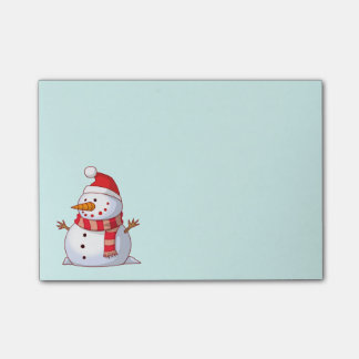 Cute Christmas Snowman Post-it Notes