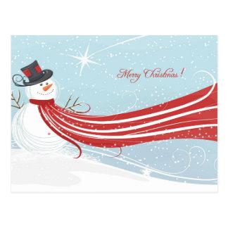 Cute Christmas Snowman Postcard