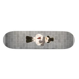 cute christmas snowman skate board