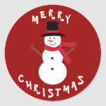 Cute Christmas Snowman Stickers
