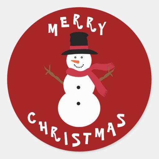 Cute Christmas Snowman Stickers