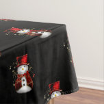 Cute Christmas Snowman Tablecloth
