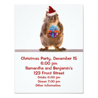 Cute Christmas Squirrel and Gift Card