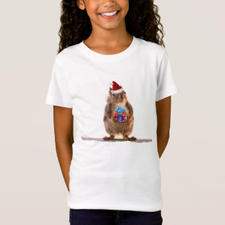 Cute Christmas Squirrel and Gift T-Shirt