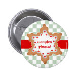 Cute Christmas star cookie Pinback Button