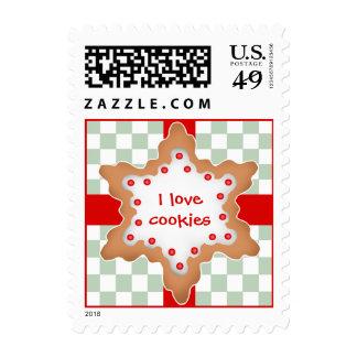 Cute Christmas star cookie Postage