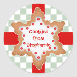 Cute Christmas star cookie Sticker