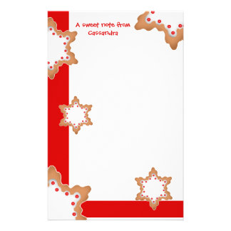 Cute Christmas star cookies Stationery