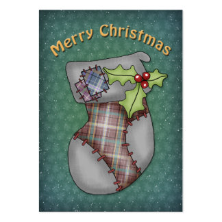 Cute Christmas Stocking Large Business Card