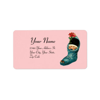 Cute Christmas Stocking ,Little Child,Pink Blue Label