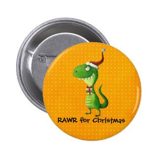 Cute Christmas T-rex 2 Inch Round Button