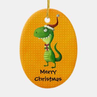 Cute Christmas T-rex Christmas Tree Ornament