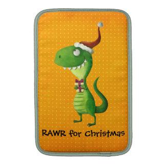 Cute Christmas T-rex MacBook Sleeve