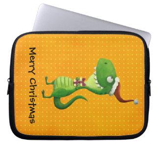 Cute Christmas T-rex Computer Sleeves