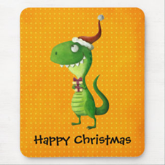 Cute Christmas T-rex Mouse Pad
