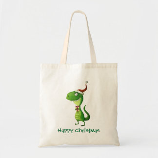 Cute Christmas T-rex Tote Bag