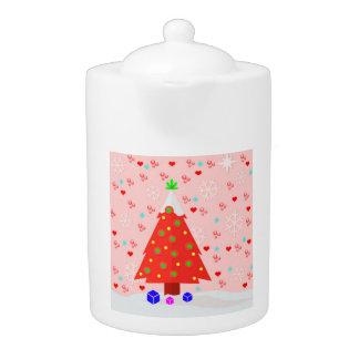 Cute Christmas Teapot