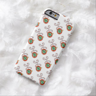 Cute Christmas Text, Ho in Candy Canes Ornaments Barely There iPhone 6 Case