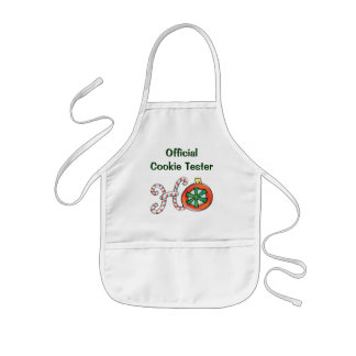 Cute Christmas Text, Ho in Candy Canes Ornaments Kids' Apron