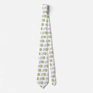 Cute Christmas Text, Ho in Candy Canes Ornaments Neck Tie