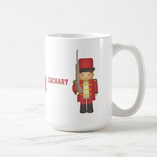 Cute Christmas Toy Soldier Boy in Red Coffee Mug