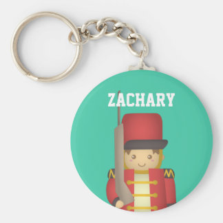 Cute Christmas Toy Soldier Boy in Red Key Chain
