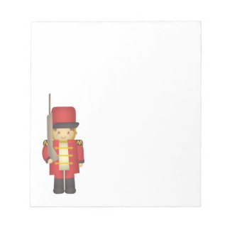 Cute Christmas Toy Soldier Boy in Red Notepad