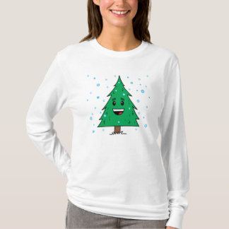 Cute Christmas Tree - Ladies Long Sleeve T-Shirt