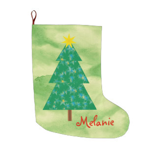 Cute Christmas Tree Large Christmas Stocking