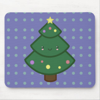 Cute Christmas Tree Mouse Pad