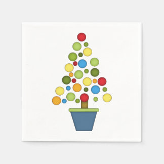 Cute Christmas Tree/Multi-colored Paper Napkin