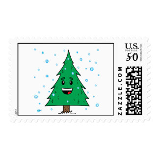 Cute Christmas Tree - Postage Stamp