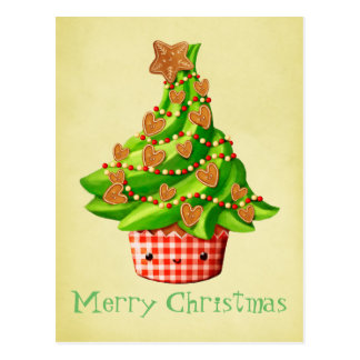 Cute Christmas Tree Postcard