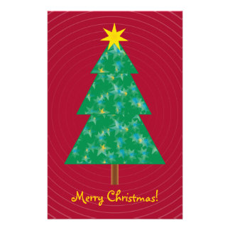 Cute Christmas Tree Stationery