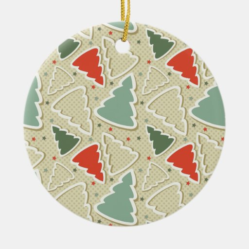 Cute Christmas Trees and Stars Ornament