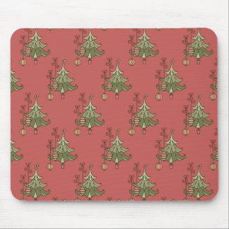 Cute Christmas Trees Mousepad