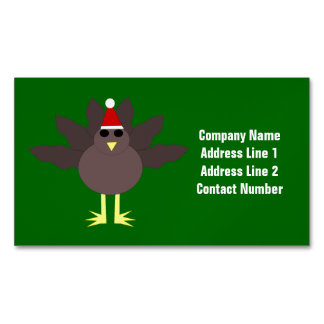 Cute Christmas Turkey Custom Business Cards
