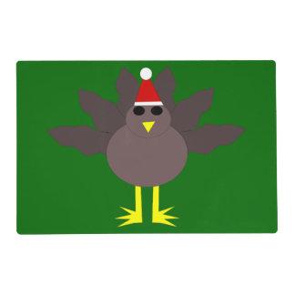 Cute Christmas Turkey Custom Paper Placemat