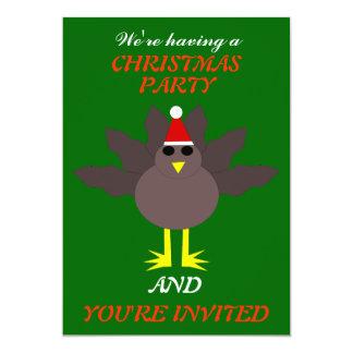 Cute Christmas Turkey Custom Party Invites