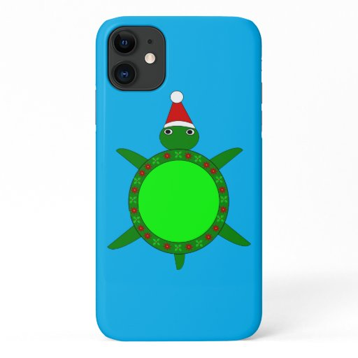 Cute Christmas Turtle with Flowery Shell iPhone 11 Case