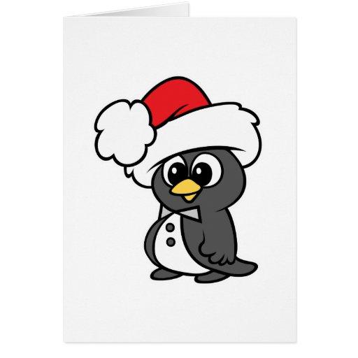 Cute Christmas Tuxedo Penguin Greeting Cards