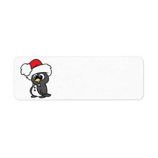 Cute Christmas Tuxedo Penguin Return Address Label