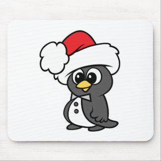 Cute Christmas Tuxedo Penguin Mouse Pad