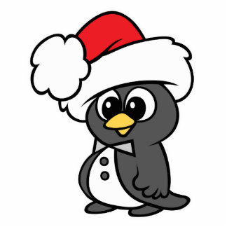 Cute Christmas Tuxedo Penguin Cut Out