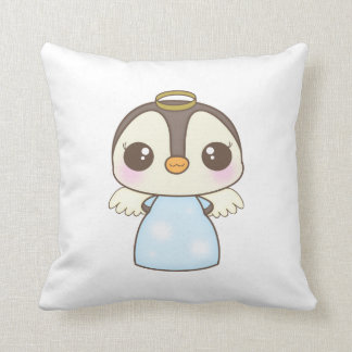 cute christmas winter angel penguin pillow