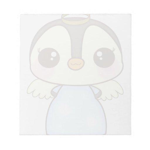 cute christmas winter angel penguin scratch pad