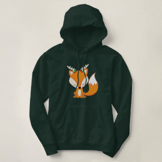 Cute Christmas Woodland Fox Hoodie